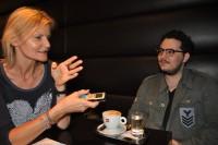Hedi Grager im Gespräch mit Mario Canedo (Foto Reinhard Sudy)