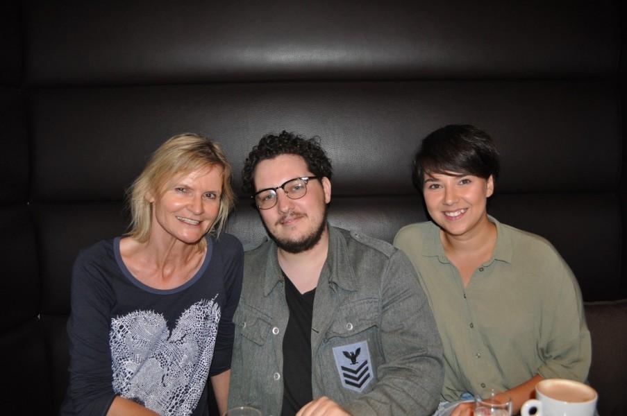 Ich traf die Jungschauspieler Mario Canedo und Brigitta Kanyaro bei einem ihrer Graz-Besuche für ein sehr angenehmes Gespräch (Foto Reinhard Sudy)