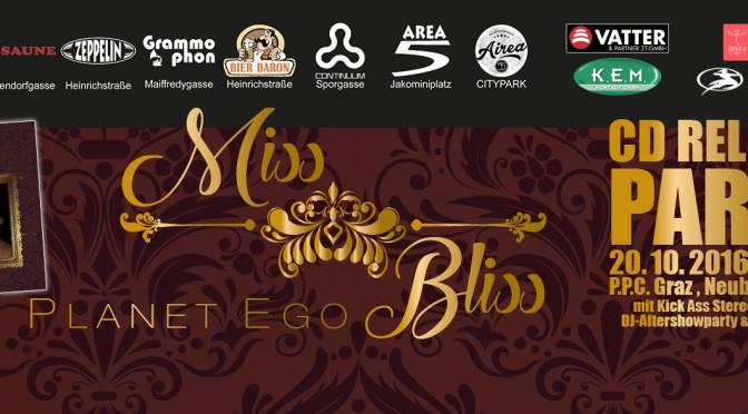 Miss Bliss: Debutalbum 'Planet ego'