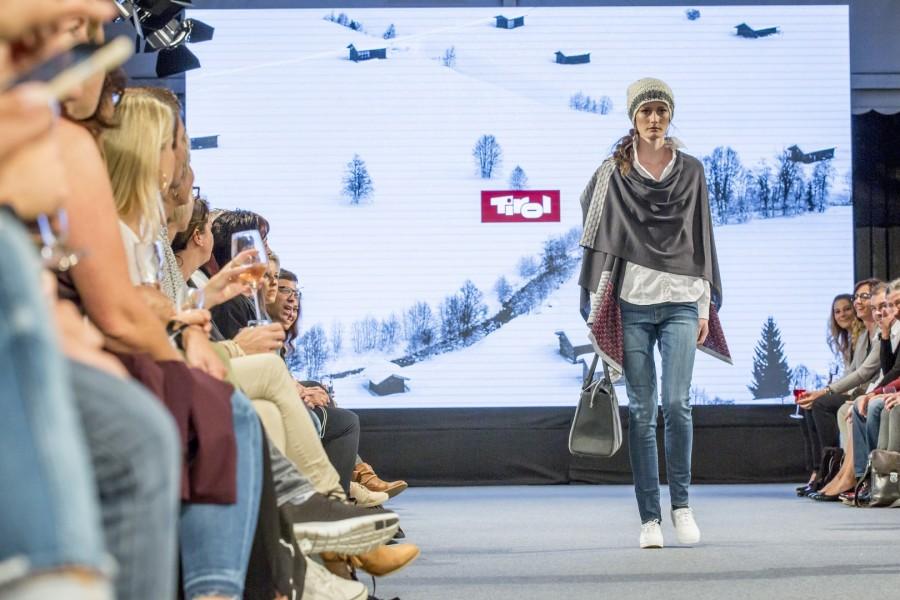 Der österreichischen Shooting Star Viktoria Machajdik lief für die Kollektion Tirol (Foto Getty Images)