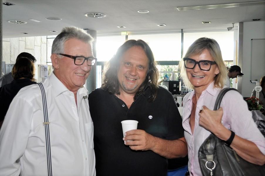 """Heinz Marecek, Regisseur Daniel Helfer und Hedi Grager. Soko Kitzbühel"""" ist eine Koproduktion von ORF und ZDF, hergestellt von beo-Film, unterstützt von Cine Tirol; die Ausstrahlung der 16. Staffel ist voraussichtlich 2017 (Foto Reinhard Sudy)"""