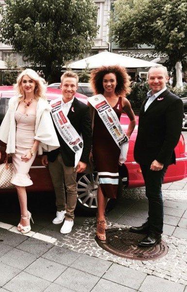 Christiane Baldauf, Mister Südösterreich Mario Stückler, Vize Miss Styria Allegra Bell und EU Konsulent Dr. Johannes Ausserladscheiter (Foto privat)