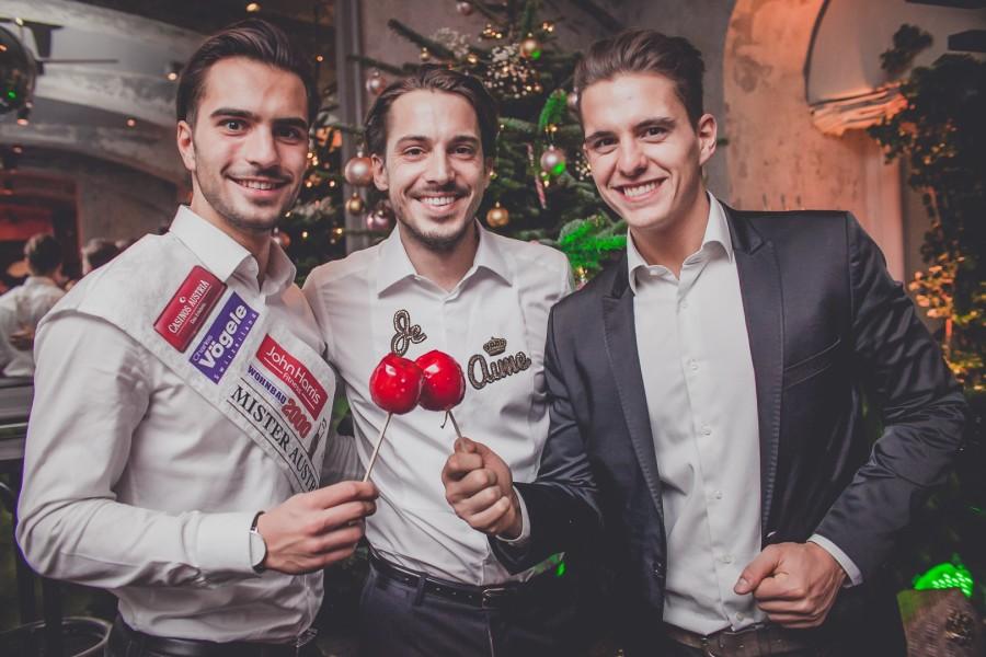Mister Austria 2016 Philipp Rafetseder, MOTTO Chef Tom Sampl und Mister Austria 2013 Philipp Knefz (Foto Marzena Wolowicz)