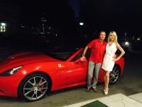 Zwei Steierer: Mister Ferrari Heri Kasper und Christiane Baldauf (Foto privat)