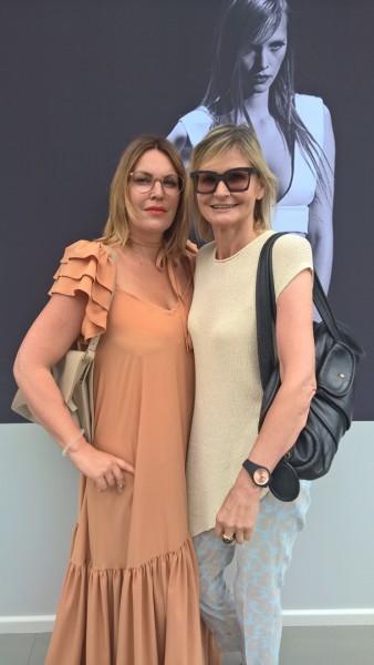 Katharina Schlager und Hedi Grager auf der Berliner Fashion Week im Sommer 2016 (Foto privat)