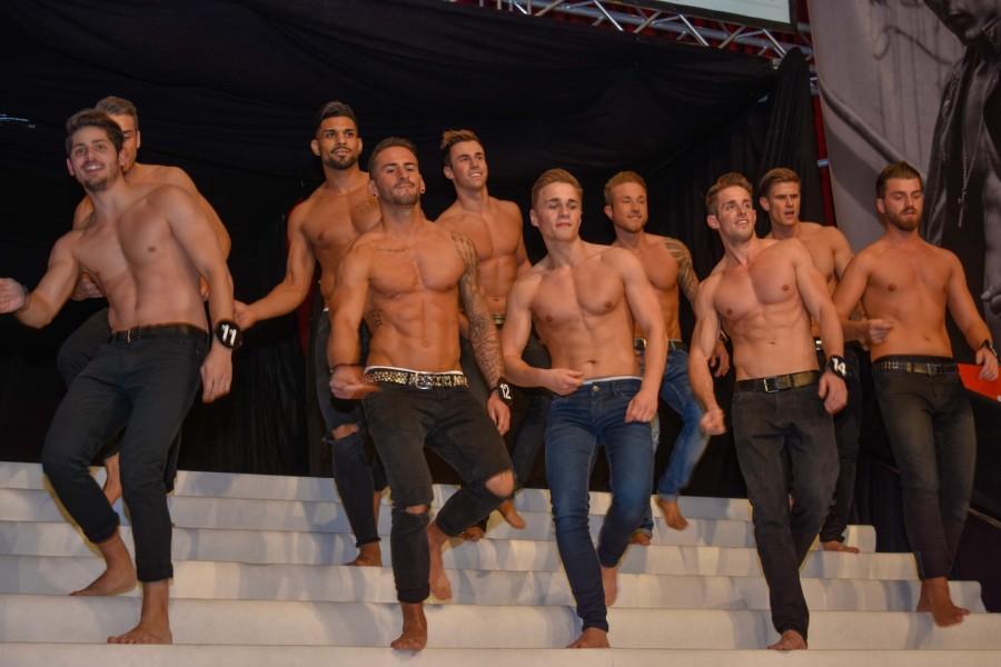 Insgesamt kämpften 30 Mister aus allen 9 Bundesländern und 3 Wildcard Gewinnermit vollem Körpereinsatz um den begehrten Titel Mister Austria 2016 (Foto Mister Company/Pail)