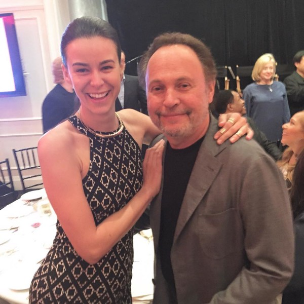 Academy Awards: Kerstin Lechner als 'Trophy Presenter' und Host von Billy Crystal beim Champions Dinner_im Bel Air Hotel (Foto privat)