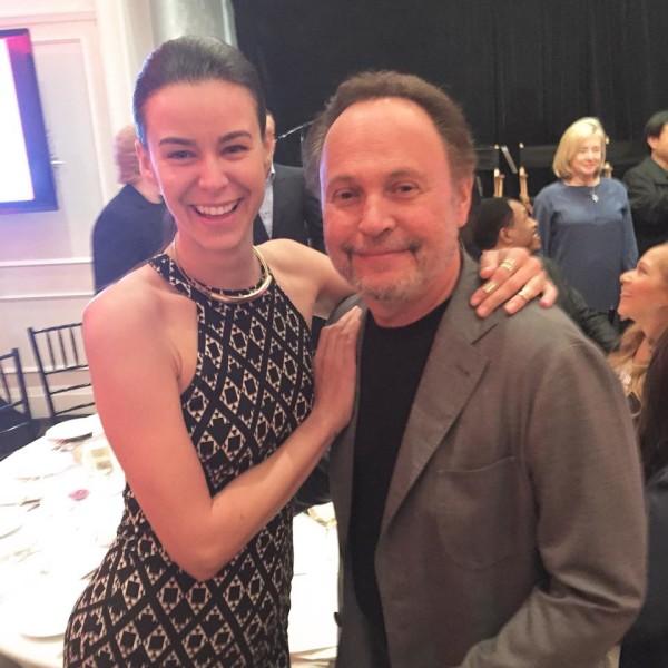 Academy Awards: Kerstin Lechner als 'Trophy Presenter' und Host von Billy Crystal beim Champions Dinner_im Bel Air Hotel (Foto privat)