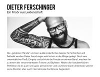 Dieter Ferschinger ist jetzt Markenbotschafter für Dyson (Screenshot www.dieter-ferschinger.com)