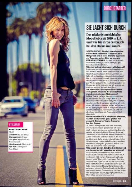 Kerstin Lechner: Seitenblicke MAGAZIN 2014