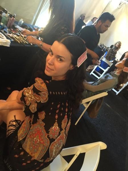 Kerstin Lechner: Selfie beim Styling für ein Photoshoot