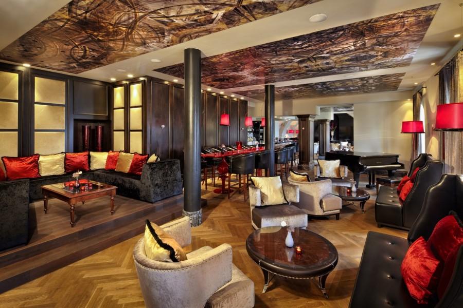 Die gemütliche Schlossbar im Schlosshotel Velden (Foto Schlosshotel Velden)