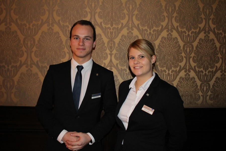 Janine Markound Kevin Bevendorf, zwei ehemalige Trainees des Schlosshotel Velden (Foto Schlosshotel Velden)