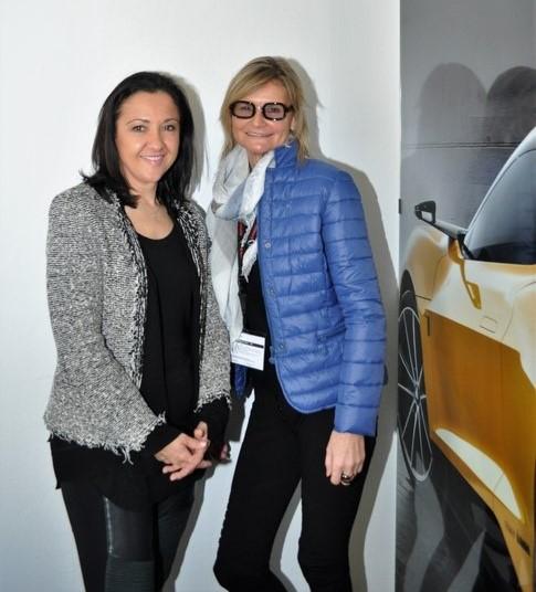 Ana Topolic und Hedi Grager: Die erfolgreiche Marketing-Managerin von Magna nahm sich die Zeit für ein Interview (Foto Reinhard Sudy)