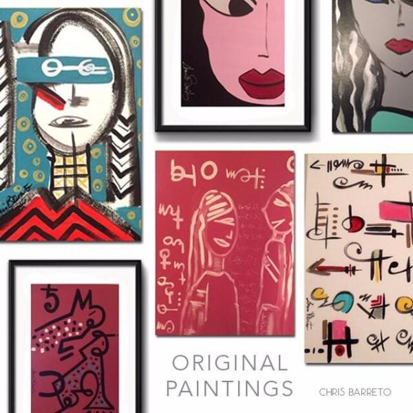 Chris Barreto arbeitet ausschließlich mit eigenen Motiven, die auf verschiedene Produkte wie Bilder, Wandposter, Wandteppiche .....