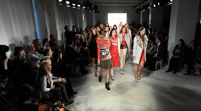 BERLIN, GERMANY - JANUARY 18:  Models walk the runway at the Sportalm show during the Mercedes-Benz Fashion Week Berlin A/W 2017 at Kaufhaus Jandorf on January 18, 2017 in Berlin, Germany.  (Photo by Frazer Harrison/Getty Images for Sportalm)