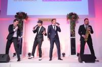 """Nach der Fashion Show sorgten die Moderatoren Volker Piesczek und Norbert Oberhauser mit ihrer Band """"The Rats Are Back"""" für ein musikalisches Highlight (Foto Moni Fellner)"""