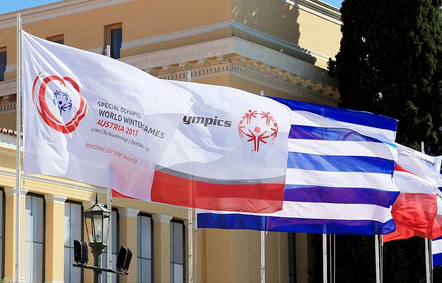"""Am 2. März wurde in Athen die """"Flamme der Hoffnung"""" im Zappeion Palast entzündet - im Beisein von Athleten, einer Abordnung von Special Olympics International und natürlich einer Delegation der World Winter Games 2017 (Photo GEPA pictures/Special Olympics)"""