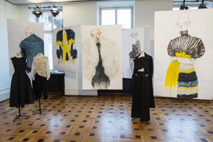 DER BERLINER MODE SALON Herbst/Winter 2017/18 Kollektion - Gruppenausstellung TIM LABENDA (Foto BERLINER MODE SALON)