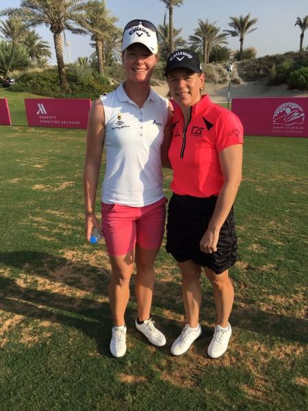 """Sarah Schober: """"Es war ein cooles Gefühl, die schwedische Golf-Legende Annika Sörenstam in Abu Dhabi kennenzulernen"""" (Foto beigestellt)"""