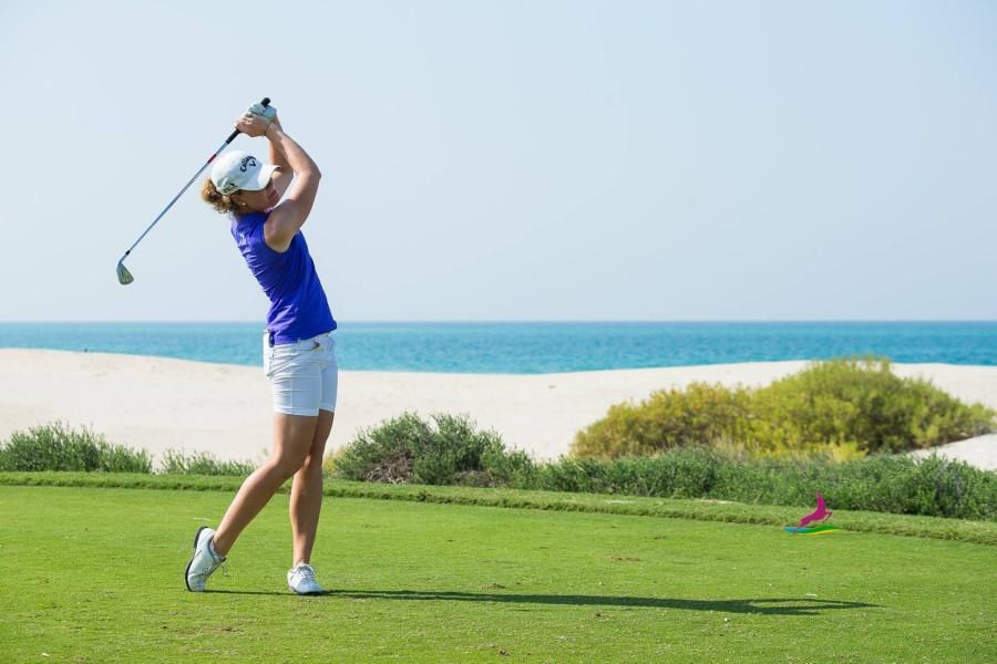 Sarah Schober beim Fatima Bint Mubarak Ladies Open in Abu Dhabi (Foto beigestellt)