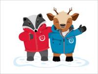 Die offiziellen Maskottchen der Special Olympics Winter Games, Lara & Luis (Foto Menzel-Riebenbauer)