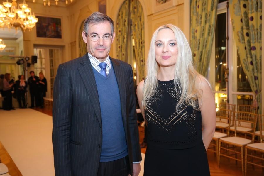 Der Französische Botschafter Pascal Teixeira da Silva mit der Organisatorin der French Fashion Week Sonja Ortner, Agentur communication Studio (Foto Moni Fellner)
