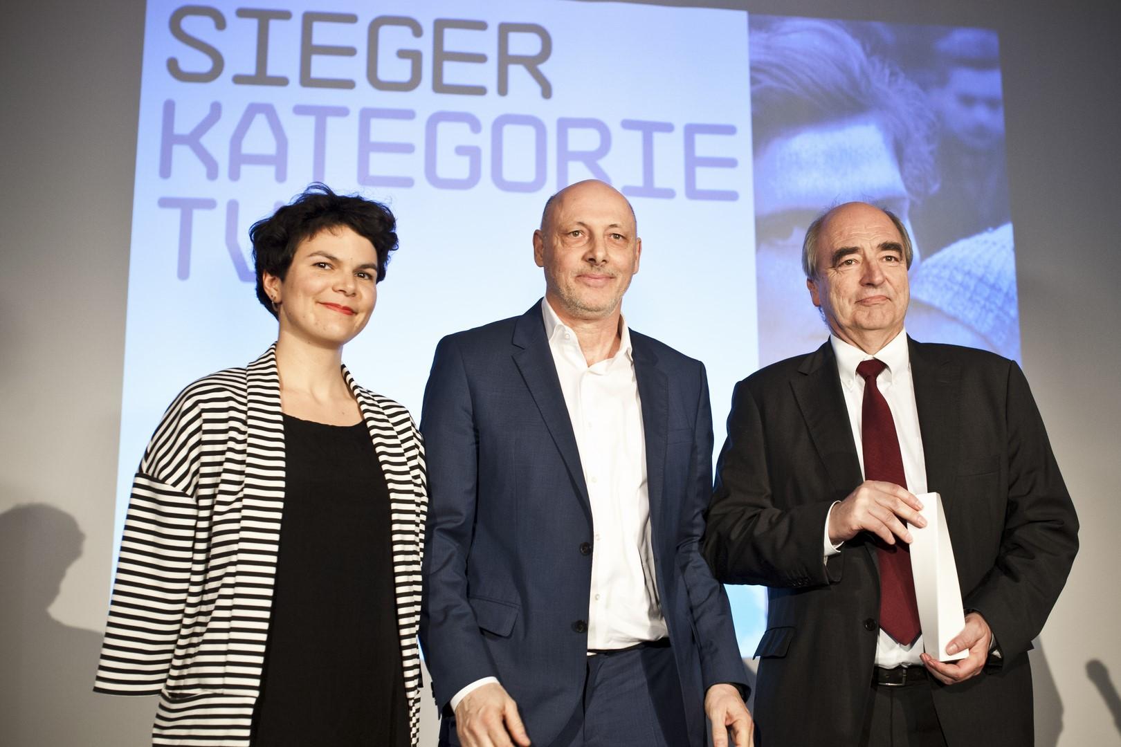 Franz Grabner-Preis: Katharina Grabner, Andreas Pfeifer, Andreas Novak (Foto Diagonale/Miriam Raneburger)