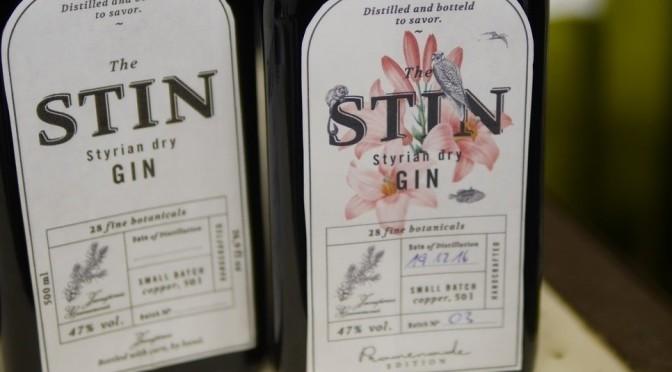 Styrian Gin 'STIN' – und die Café-Promenade-Edition