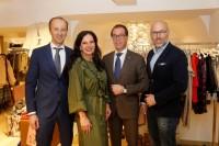 Günther Heiden, Carina Harbisch, Fabrizio Pisano von der Mailänder Edelmarke Tombolini und Oliver Warscher von Eton (Foto Manfred Lach)