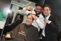 Thomas Weber ließ auch Haare für den guten Zweck (Foto Fotostudio Sima)