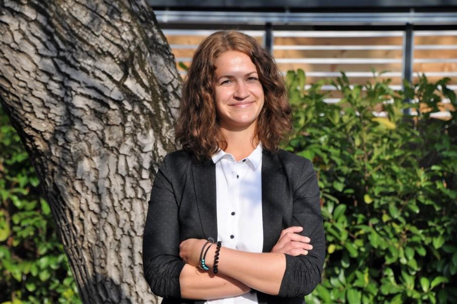 Christina Leitner arbeitet als Commissioning and Start-Up Engineer bei der Grazer Andritz AG und ist für die Inbetriebnahme von Papier- und Kartonmaschinen zuständig (Foto Reinhard Sudy)