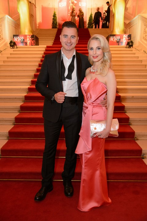 Silvia Schneider und Andreas Gabalier bei der Romy Verleihung 2017 in der Wiener Hofburg (Foto Kurier/Rainer-Gregor Eckharter)