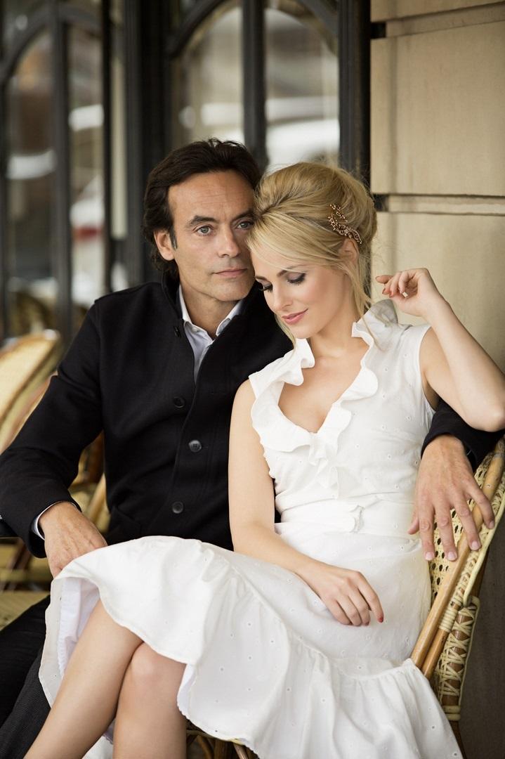 Silvia Schneider shootete ihre erste eigene Modekollektion Mademoiselle Schneider in Paris mit Anthony Delon (Foto Marcel Gonzalez-Ortiz)