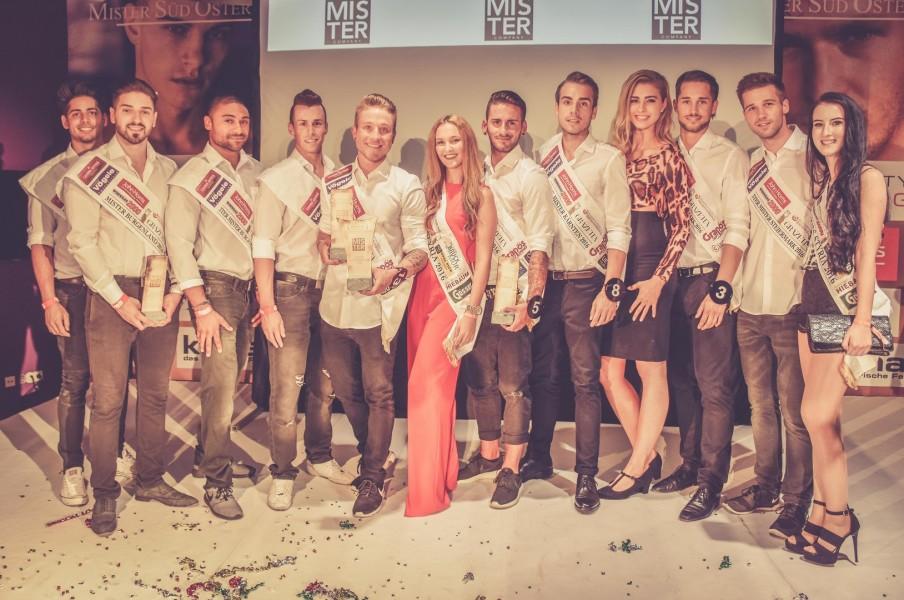 Alle Gewinner 2016 mit ehemaligen steirischen Missen (Foto Mister Company/Pail)