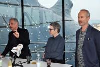 Günther Holler-Schuster im Gespräch mit dem Künstler Erwin Wurm anlässlich seiner Ausstellung im Grazer Kunsthaus (Foto Reinhard Sudy)