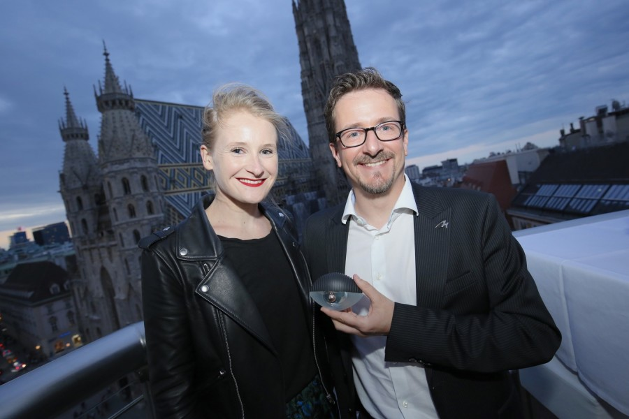 Kenzo Senior Product Manager Pauline Johanet und Marionnaud General Manager Alain Parent (Foto Moni Fellner)