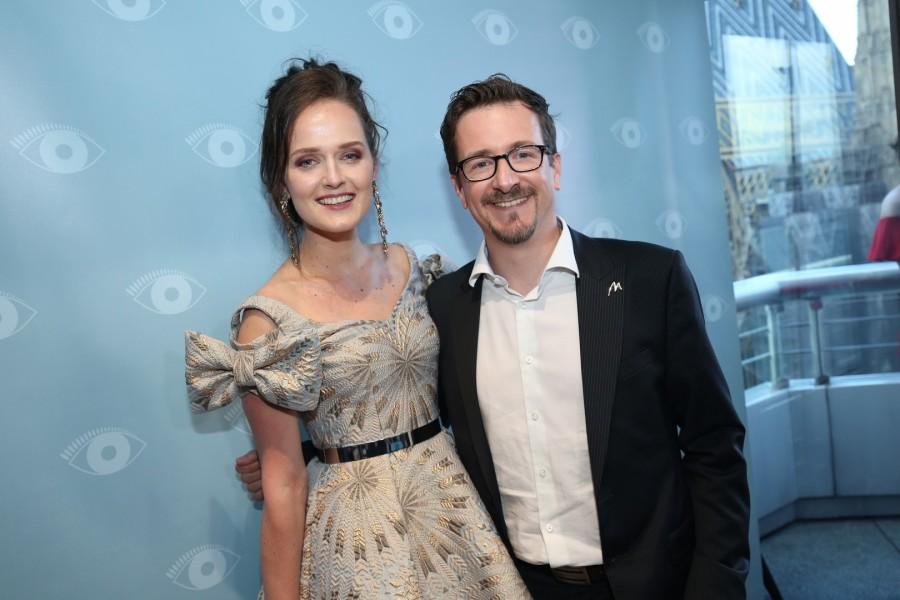 Die erfolgreiche und sympathische Designerin Eva Poleschinski mit Marionnaud General Manager Alain Parent (Foto Moni Fellner)