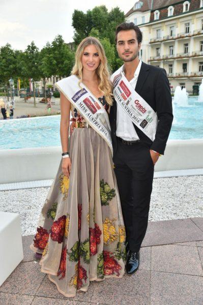 Miss Austria 2016 Dragana Stankovic und Mister Austria Philipp Rafetseder (Foto MAC/Tischler)