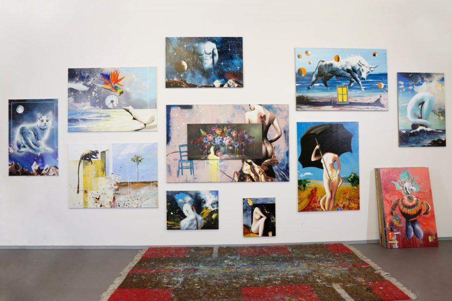 Der bekannte maler Werner Stadler präsentierte seine Werke im neuen Grazer Atelier (Foto Manfred Lach)