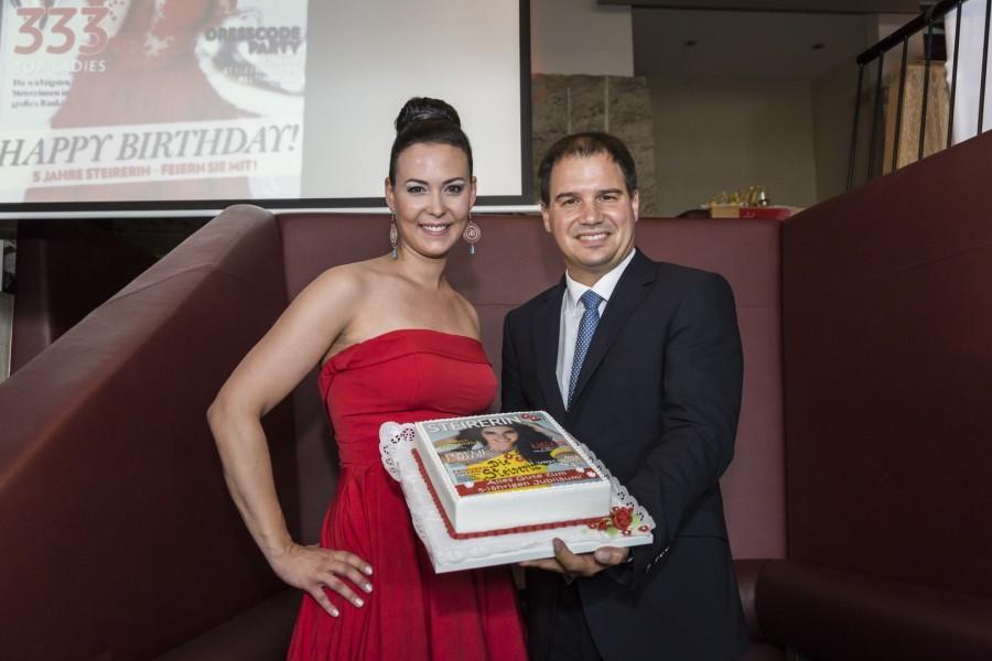 Auch LH-Stv. Michael Schickhofer gratulierte Geschäftsleiterin Nicole Niederl und ihrem Team zum Geburtstag der STEIRERIN (Foto Thomas Luef)