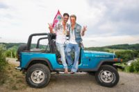 """Michael Lameraner und Adi Weiss feierten das zweite Sommerfest und präsentierten die zweite Ausgabe ihres Magazins """"OBEGG - Best of Südsteiermark"""" (Foto Moni Fellner)"""