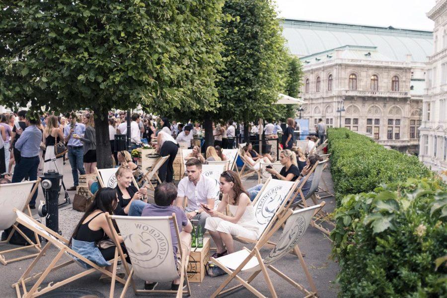 ALBERT&TINA feiert bereits zum 7. Mal vor dem Albertina Museum in Wien die schönen Künste und die eindrucksvolle Architektur (Foto Max Kropitz)