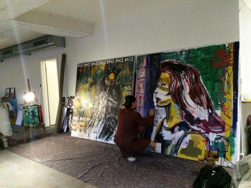 """Alessandro Painsi arbeitet am liebsten an großen Werken - """"je größer, desto besser"""" (Foto privat)"""