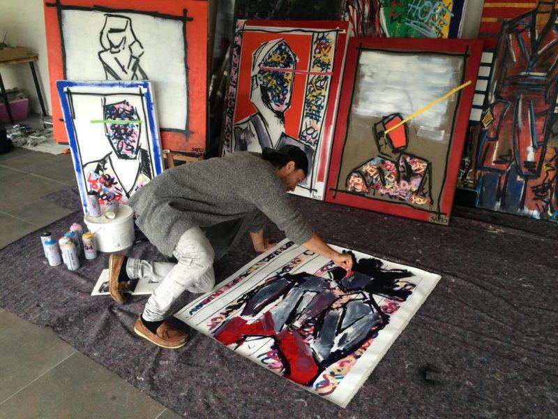 Der junge Künstler Alessandro Painsi weiß ganz genau, dass er für eine erfolgreiche Karriere hart arbeiten muss (Foto privat)