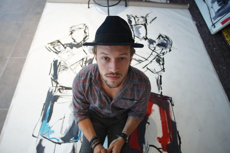 Alessandro Painsi ist stolz darauf, dass sich Galerien in den USA und jetzt auch in seiner Heimat Österreich für ihn als Künstler interessieren (Foto David Ocean)