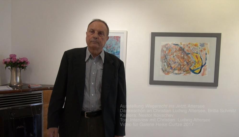 Christian Ludwig Attersee ist ein großer Förderer seiner Schüler. Aus dem Video zur Ausstellung von Christian Ludwig Attersee, das Nestor Kovachev drehte.