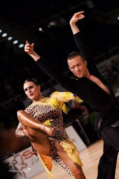 Alessandro Painsi war ein sehr erfolgreicher Turniertänzer, nahm an der Europa- und Weltmeisterschaft teil. Hier mit seiner dänischen Tanzpartnerin Cecilie Engsig (Foto Regina Courtier)