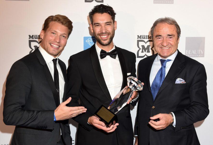 Raul Richter, Preisträger Mehdi Lali von Cartier und Frank Schnitzler (Foto BrauerPhotos / G.Nitschke)