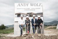 Andy Wolf Geschäftsführer Andreas Pirkheim und Katharina Schlager, Eigentümer Heimo Stix und Wolfgang Scheucher (Foto Phillip Podesser)